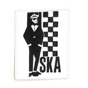 Ska patch mod iron on rude boy 2 tone records punk